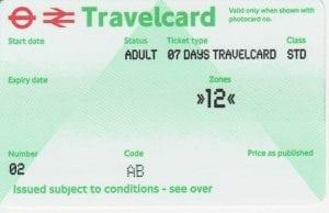 Comprar Online la Travelcard de Londres