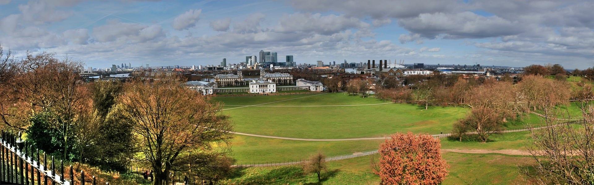 Meridiano de Greenwich en mapa