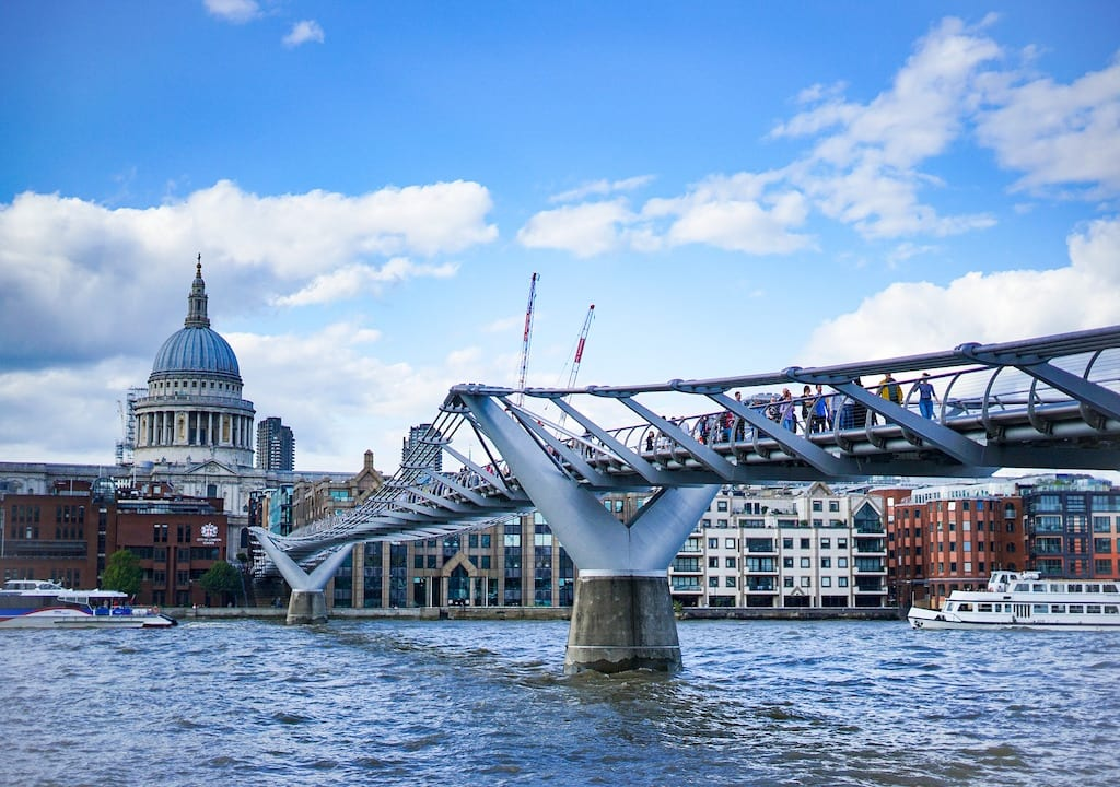 Monumentos de Londres: Millennium Bridge