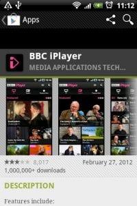 APP de BBC iPlayer para ver televisión online desde España