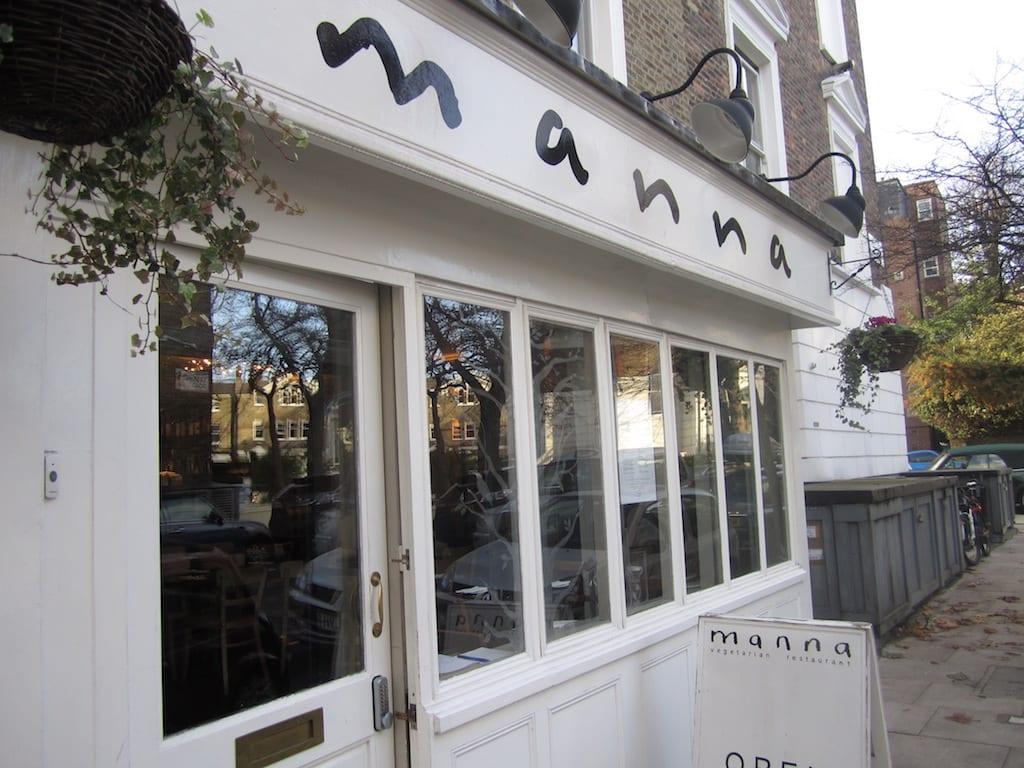 menú en el Restaurante vegano en Londres
