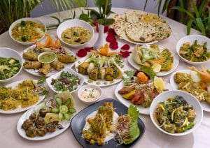 Restaurante vegetariano en Londres. comer verduras