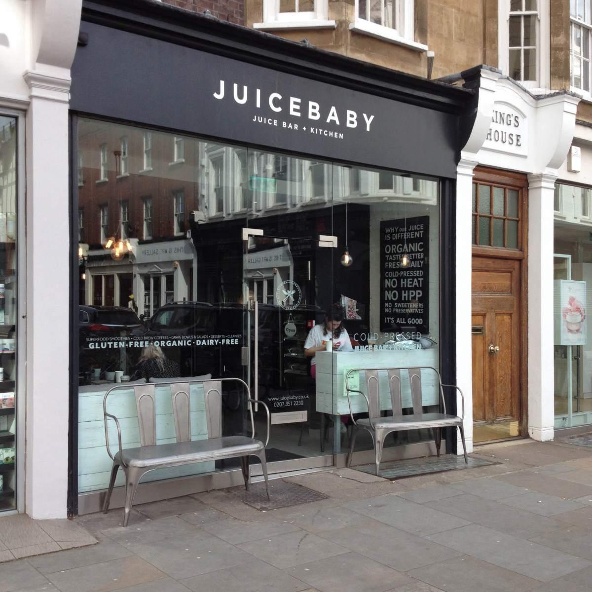 Restaurante de zumos vegano en Londres
