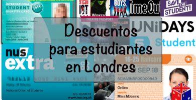 Descuentos para estudiantes en Londres