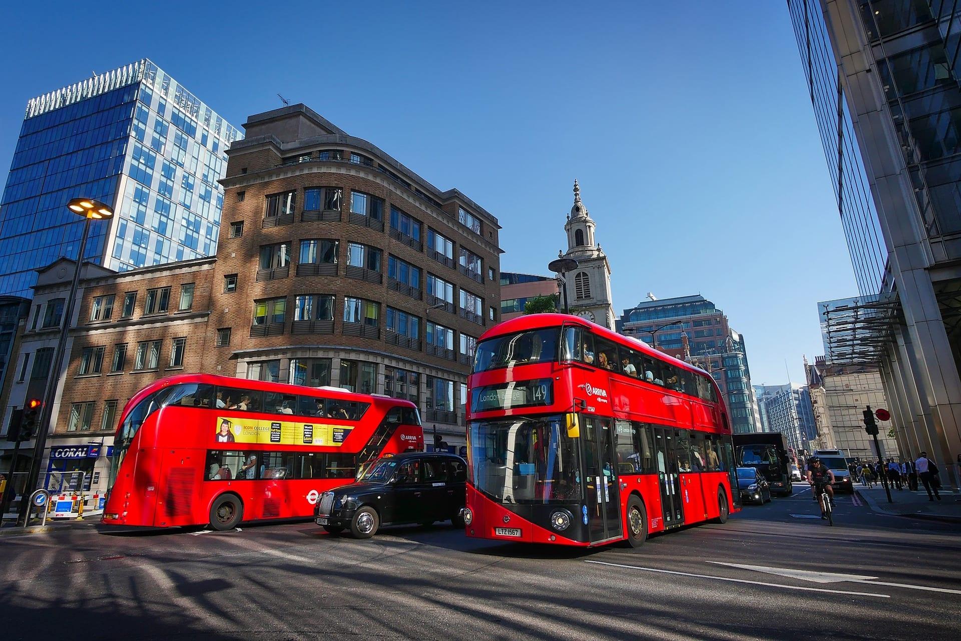 Transporte en viaje de fin de curso Londres