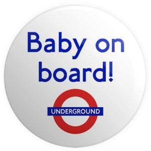 Distintivo para metro viaje a Londres embarazada