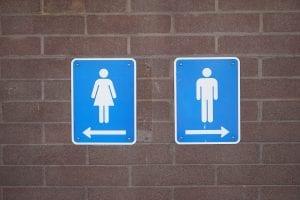 Baños públicos en viaje a Londres embarazada