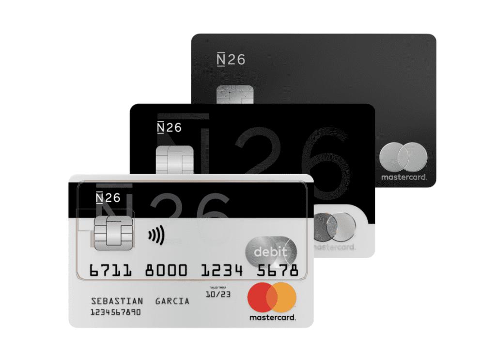 Planes de las tarjetas de N26 para sacar dinero y hacer transferencias