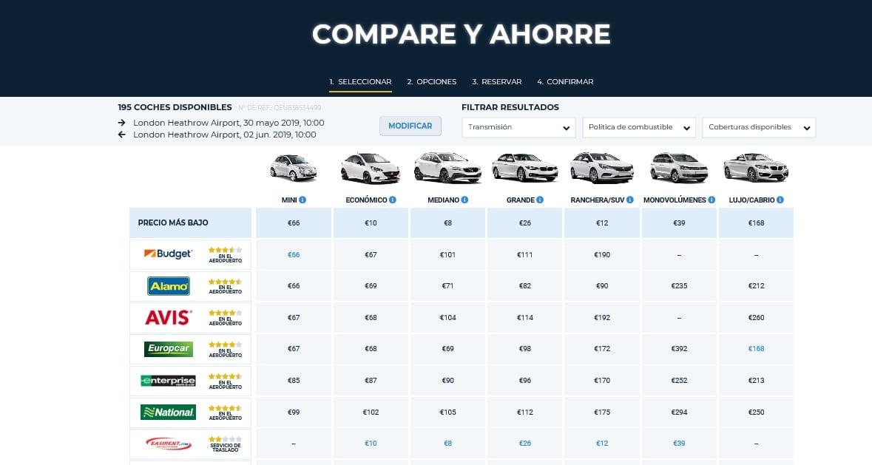 Proceso para alquilar coche con AutoEurope