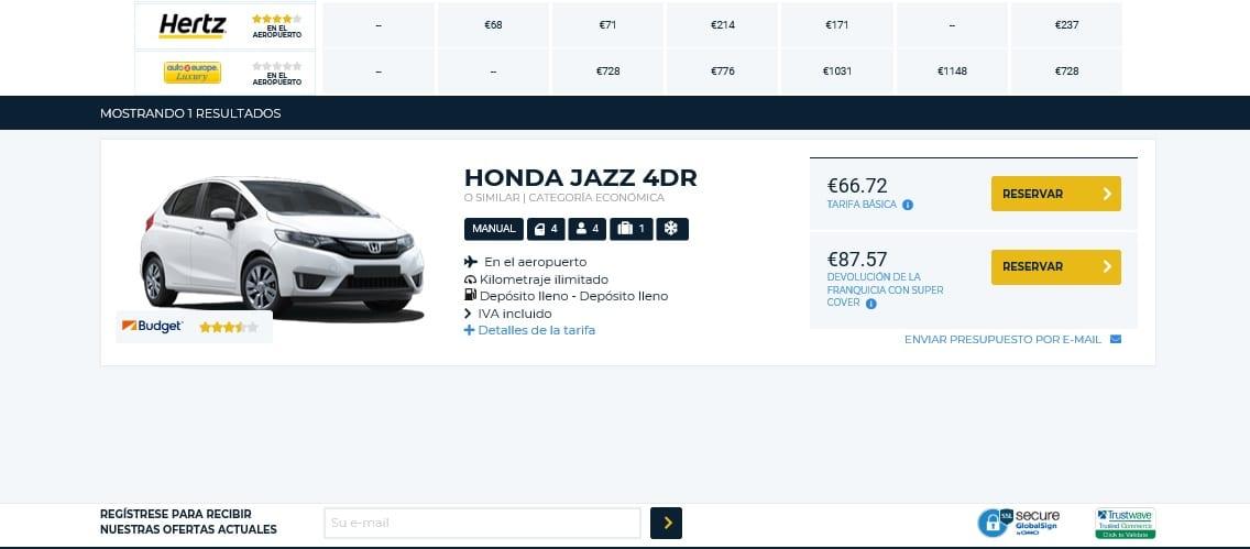 Alquilar coche en Reino Unido con Autoeurope