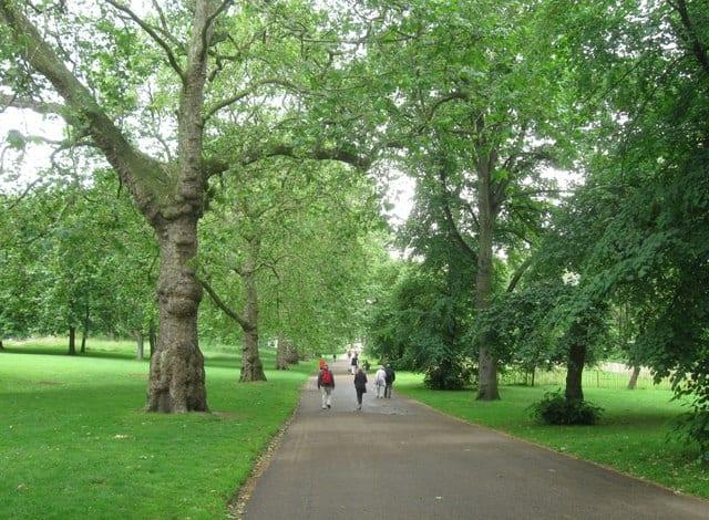 Grenn Park Londres, zona verde en el centro
