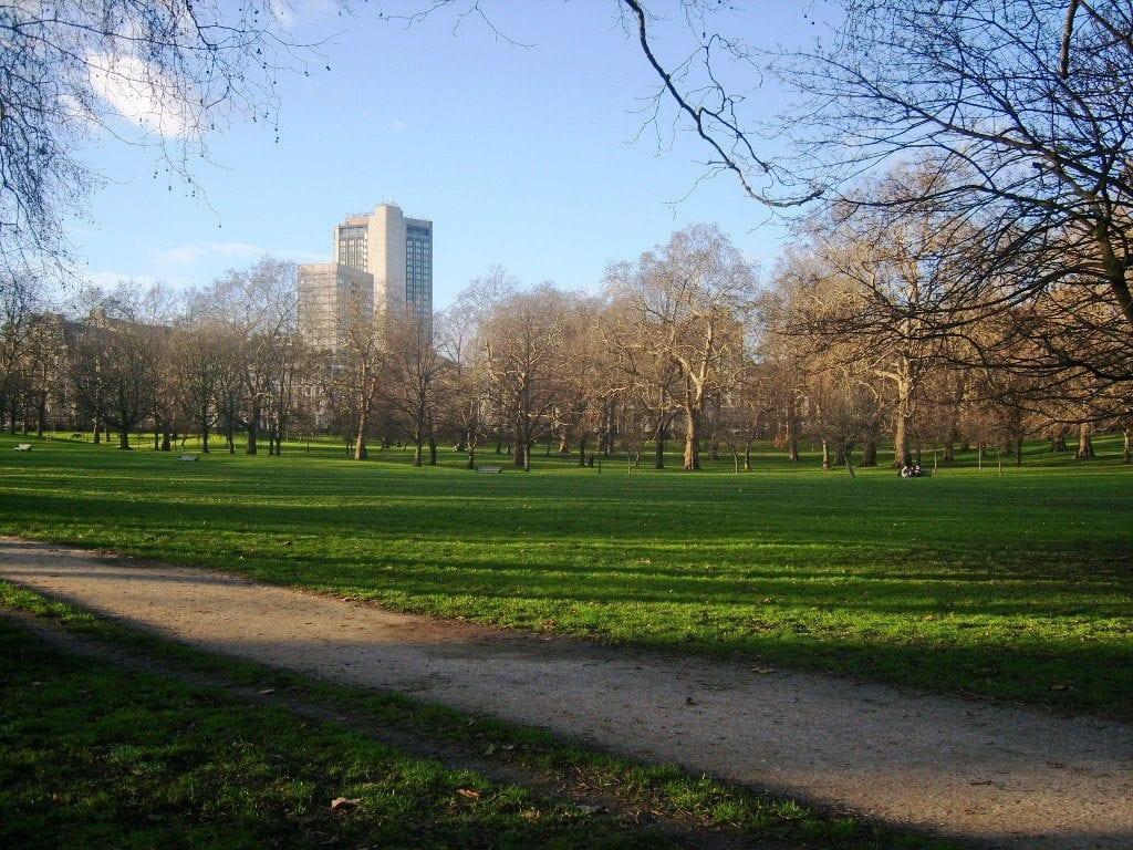 Green Park en el centro Londres