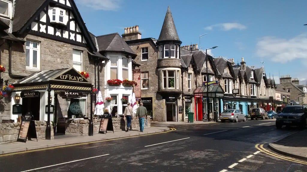 Ciudad de Pitlochry Escocia