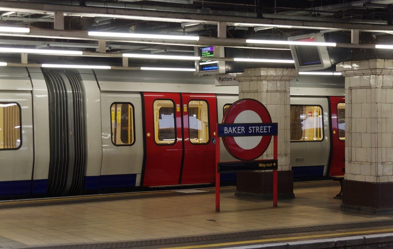 Baker Street en el barrio Marylebone
