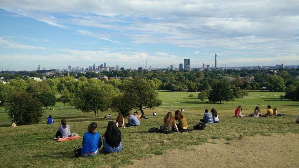 Vistas desde el parque primrose hill