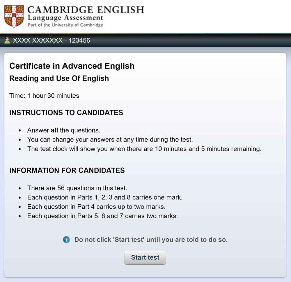 El examen Computer Based de Cambridge se hace completamente en un ordenador, menos la parte del speaking