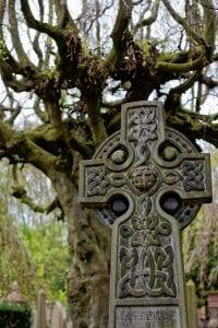 Arquitectura y Cementerio en Dean Village