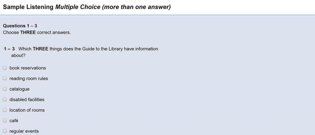 El listening de este examen mide tu capacidad de comprender audios en inglés.