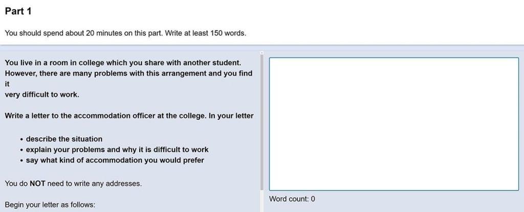 En el writing de este examen se mide tu capacidad de comprender textos en inglés.