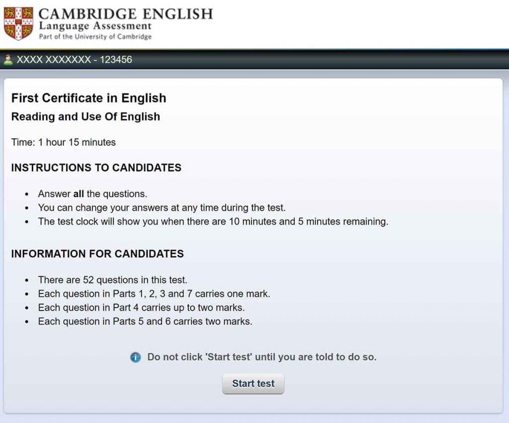 El examen en ordenador del FCE es más recomendable que el de papel.