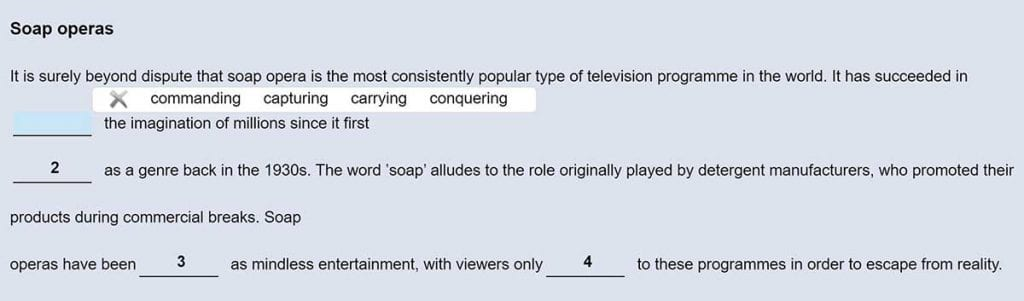 El use of English es una de las partes más importantes del Proficiency