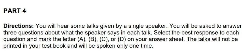 En el listening se pondrá a pruba tu capacidad de entender inglés oral.