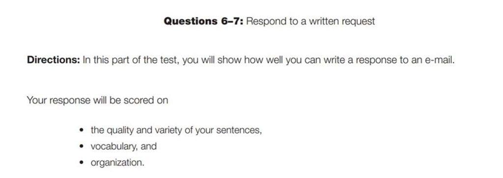 El writing del TOEIC pone a tu pruba tu capacidad de redactar textos en inlgés