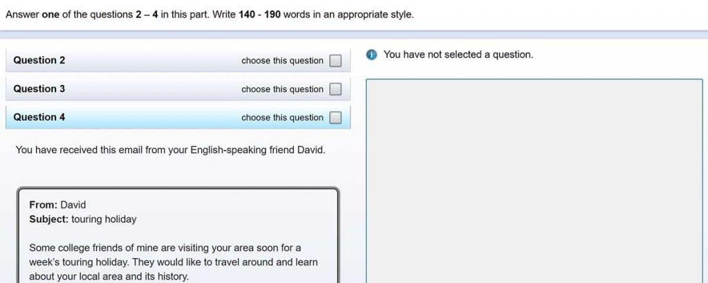 Es importante practicar la redacción en inglés para el Writing del First.
