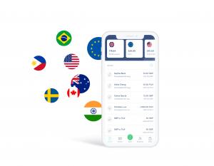 Monedas disponibles para transferencia internacional